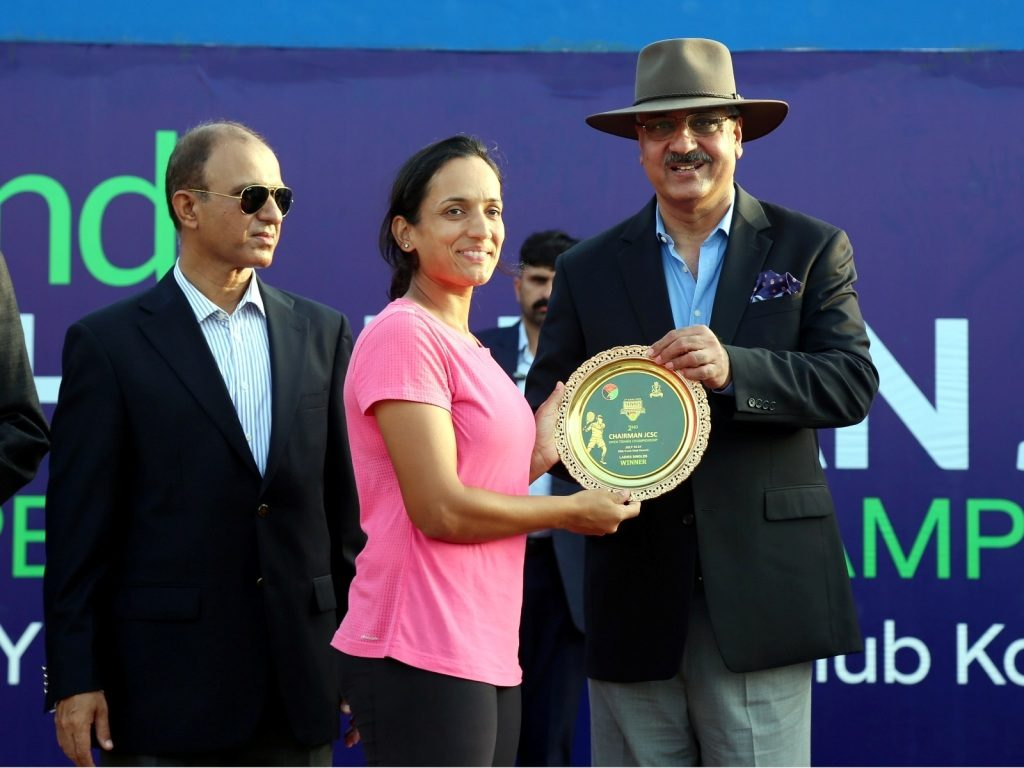 Final match and Prize Distribution Ceremony of 2nd Chairman Joint Chiefs of Staff Committee (CJCSC) Open Tennis Championship 2019 was held at Defence Authority Club, Karachi. General Zubair Mahmood Hayat, Chairman Joint Chiefs of Staff Committee graced the occasion as Chief Guest.