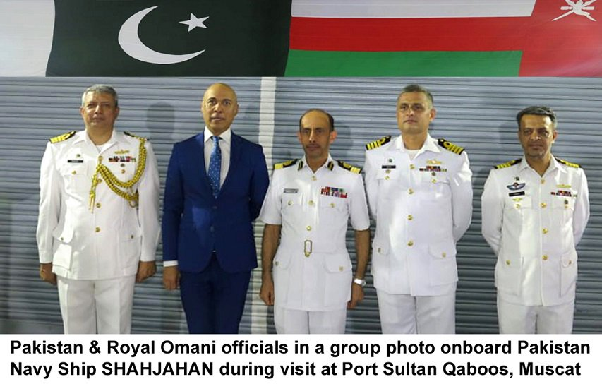 PNS SHAHJAHAN, with embarked AL-43 helicopter, visited Port Sultan Qaboos, Muscat as part of Overseas Deployment for Regional Maritime Security Patrols (RMSP) in North Arabian Sea. Deployment of PNS SHAHJAHAN in North Arabian Sea is primarily focused on fulfilling international obligations for ensuring safety and security of these waters for international shipping. PNS SHAHJAHAN is part of 25th Destroyer Squadron of Pakistan Navy Fleet and is capable to undertake variety of maritime operations in multi-threat environment.