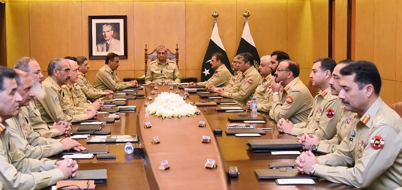 222nd Corps Commanders' Conference presided by General Qamar Javed Bajwa, Chief of Army Staff (COAS) held at GHQ today.