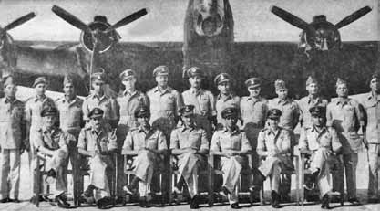 Air Cdre (then Sqn Ldr) M A Dogar (sitting in centre) as Squadron Commander No 12 Sqn at Mauripur - FearlessWarriors.PK