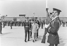 Air Chf Mshl Anwar Shamim inspecting the guard of honour at a USAF Air Base - FearlessWarriors.PK