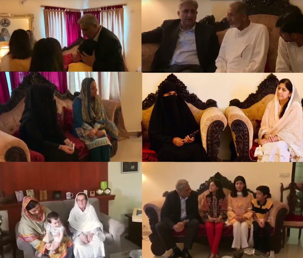 Aug 10 2019 General Qamar Javed Bajwa visited families of Shaheed Lt Col Raashid Kareem Baig, Shaheed Lt Col Waseem Hayat and Shaheed Sep Ghulam Raza at their homes - FearlessWarriors.PK