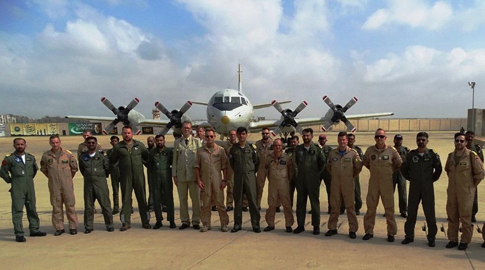 Deutschland P-3 Orion aircraft on Goodwill visit at Pakistan Naval base Mehran - FearlessWarriors.PK