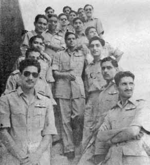 Flg Off Iqbal (3rd from below right row) along with his course mates during Jet Conversion Course at Mauripur - FearlessWarriors.PK