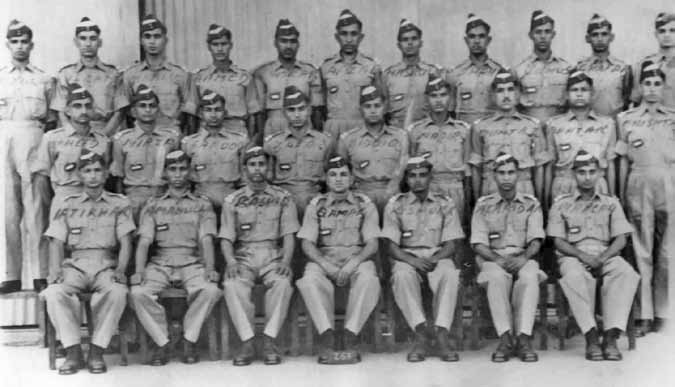 Flt Cdt Yunus (3rd from right, last row) along with his course mates at PAF Risalpur (1956)- FearlessWarriors.PK