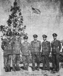 Flt Lt Iqbal (3rd from right) during training with USAF at USA - FearlessWarriors.PK