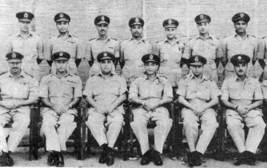 Flt Lt Iqbal (standing 2nd from right) in a memorable group photo of No 24 Sqn at Peshawar - FearlessWarriors.PK