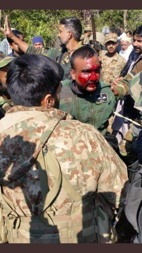 Indian Air Force Pilot Abhinandnan in Azad Jammu and Kashmir.
