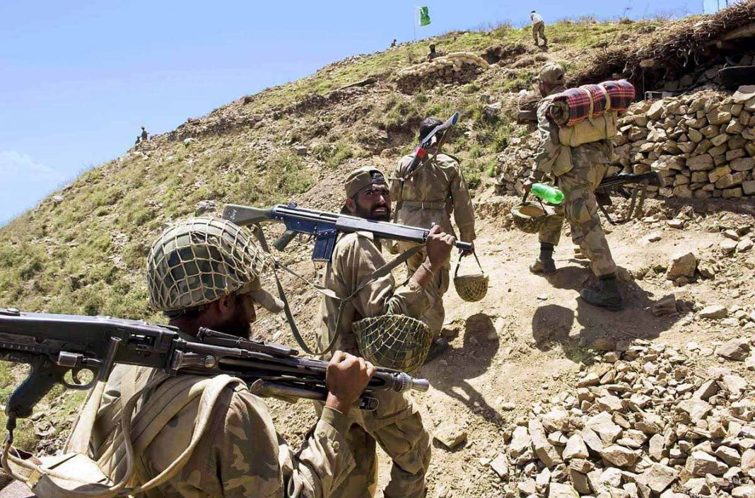 Pakistan Army soldiers during an Operation at Banai Baba Ziarat. - FearlessWarriors.PK