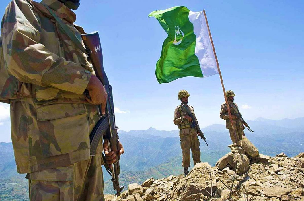 Pakistan Army soldiers during an Operation at Banai Baba Ziarat in Swat Valley. - FearlessWarriors.PK