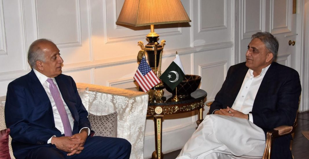 Mr Zalmay Khalilzad, US Special Representative for Afghan Reconciliation called on General Qamar Javed Bajwa, Chief of Army Staff (COAS) in continuation of ongoing discussions and efforts for success of peace process in Afghanistan.