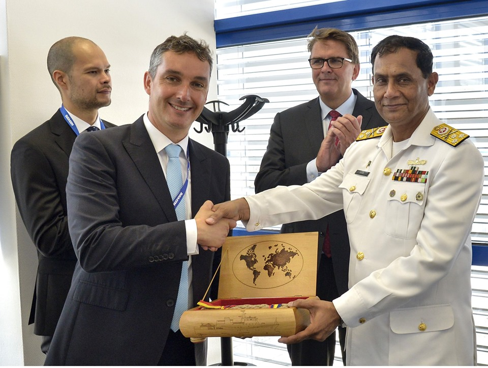 Launching Ceremony of state-of-the-art 2300 Tons Offshore Patrol Vessel-II, being built for Pakistan Navy was held at Ms DAMEN Shipyard Galati, Romania. - FearlessWarriors.PK