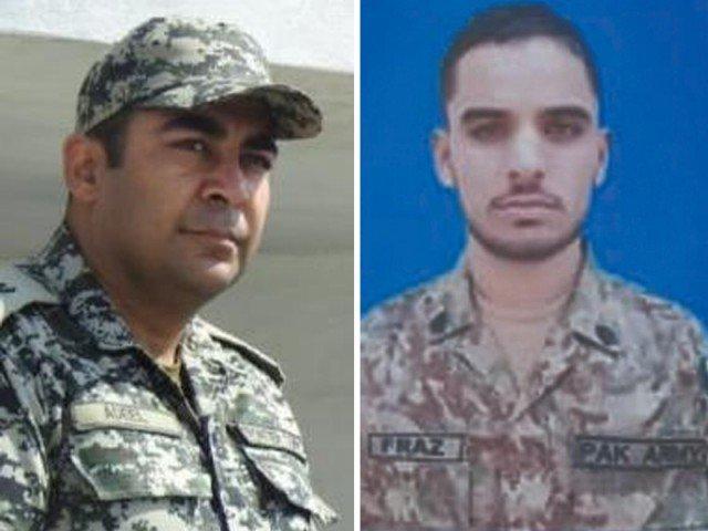 Major Adeel Shahid & Sepoy Faraz Hussain embraced shahadat - FearlessWarriors.PK