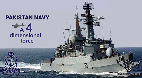 PAKISTAN NAVY - A 4 DIMENSIONAL FORCE - Samandron Ki Pasban Navy - POSTER COVER