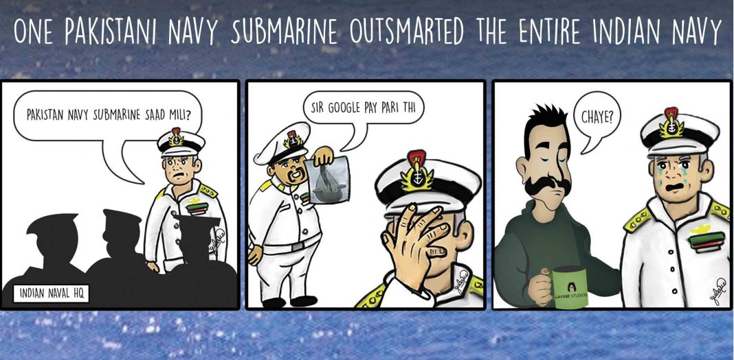 PAKISTAN NAVY SUBMARINE VS ENTIRE INDIAN NAVY COVER - FearlessWarriors.PK