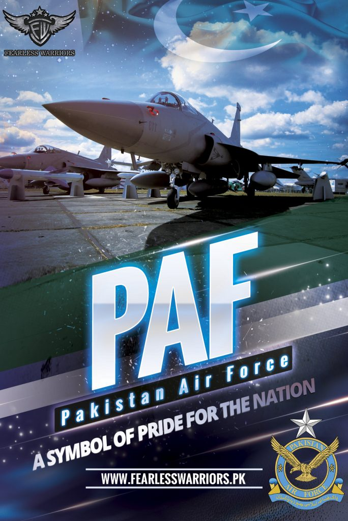 Pakistan Air Force - A Symbol of Pride for the Nation - Poster - FearlessWarriors.PK