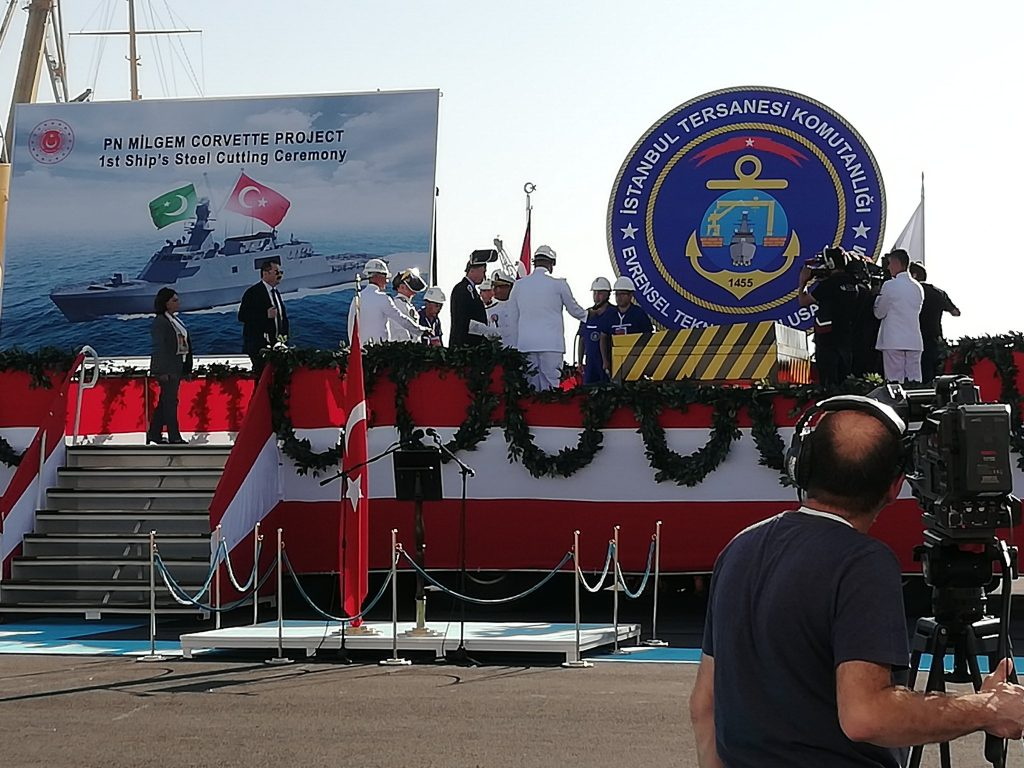 Sep 29 2019 - Steel cutting ceremony MILGEM Ada class frigates for Pakistan Navy - FearlessWarriors.PK