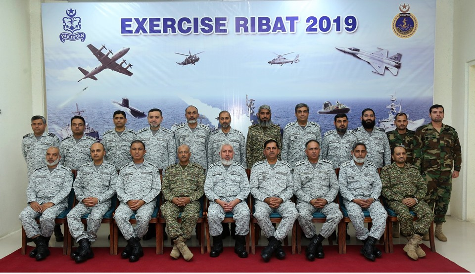 Oct 10th 2109 - Pakistan Navy Operational Exercise RIBAT-2019 debrief session at PNTS - FearlessWarriors.PK