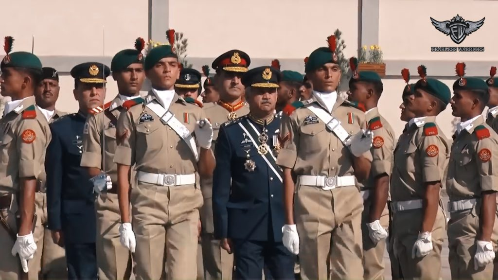 Oct 13th 2019 - Chief of Air Staff, Air Chief Marshal Mujahid Anwar Khan reviewing the parade of 140th PMA Long Course at PMA Kakul - FearlessWarriors.PK