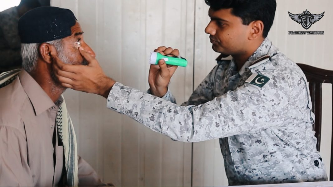 Oct 14 2019 - Pak Navy facilitated & educate local populace about eye related diseases - FearlessWarriors.PK