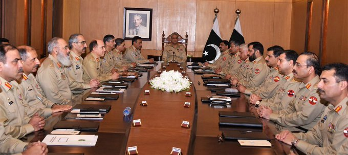 Oct 3 2019 - Corps Commanders' Conference presided by Pakistan Army Chief, General Bajwa was held at General Headquarters. - FearlessWarriors.PK