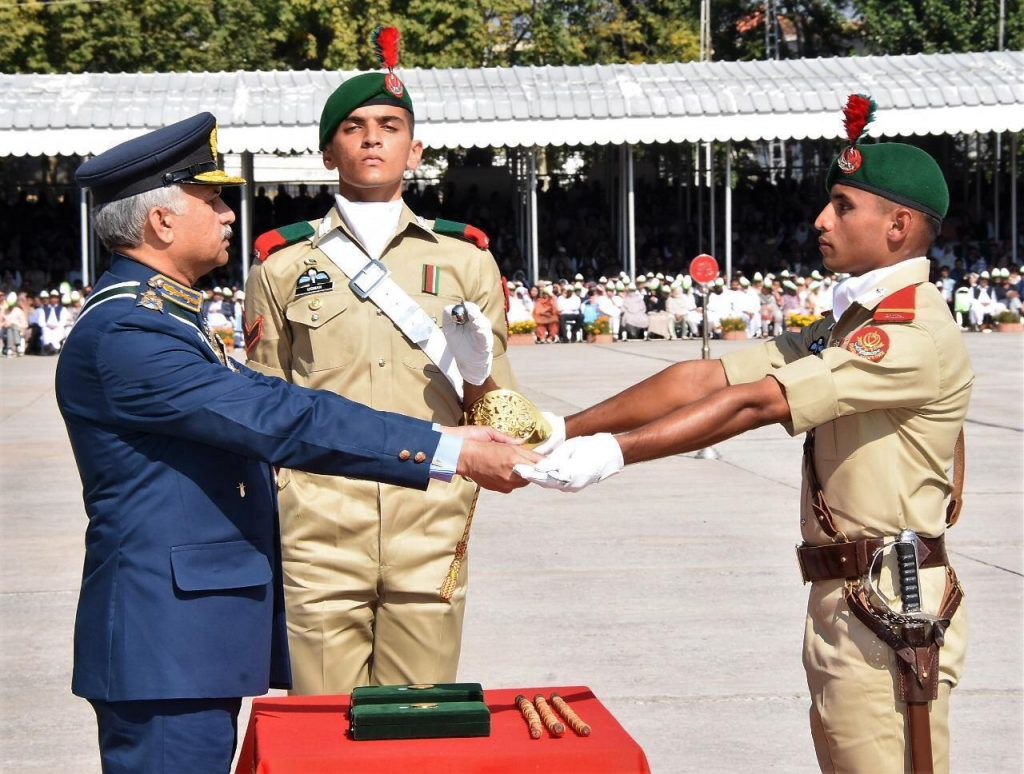 The coveted Sword of Honour was awarded to Battalion Senior Under Officer Usman Shahid. -FearlessWarriors.PK